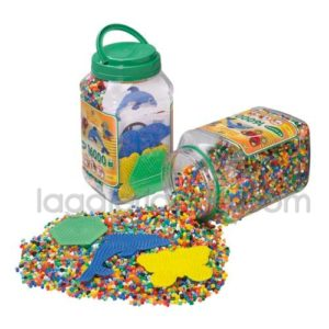 Bote Hama 16.000 beads y 3 placas/pegboards (2062)