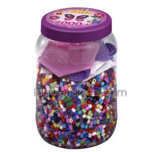 Bote Hama 7.000 Beads y 2 placas/pegboards (nº 2086)