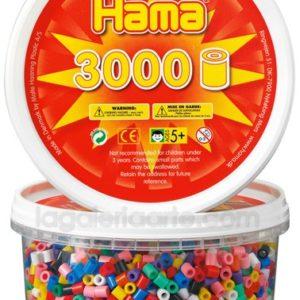 Hama midi mix 210-00 (10 colores) 3000 piezas en bote