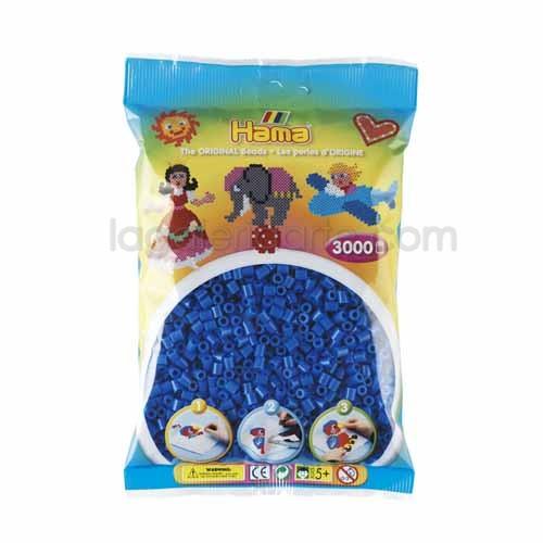 Hama midi azul claro 201-09 3000 piezas