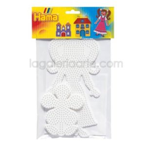 Blister Hama 2 Placas / Pegboards: flor y chica 4456
