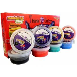 Set 8 colores Modeling Clay Think & Enjoy
