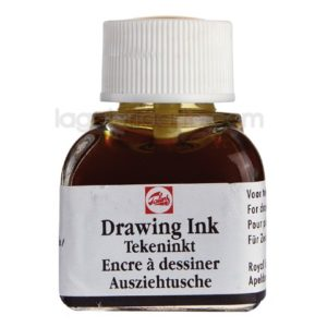 Tinta de Dibujo Negra Drawing Ink TALENS Negra 11ml