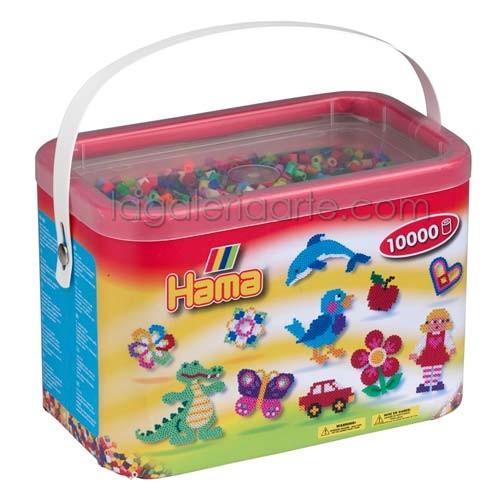 Cubo Hama midi mix/mezcla de 48 colores de 10000 piezas Ref: