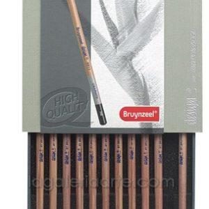 Estuche Bruynzeel Design 12 lapices Graphite