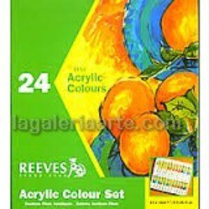 Caja de 24 Acrilicos de 12ml REEVES