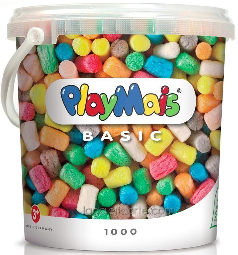 Cubo PlayMais 1000 Bloques Maiz Colores