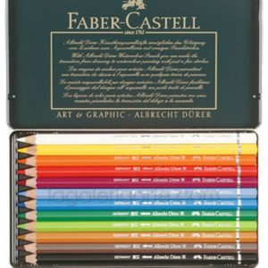 Estuche Metal 12 Lapices de Color Acuarelables FABER-CASTELL