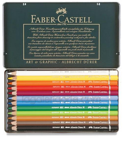Estuche Metal 12 Lapices de Color Acuarelables FABER-CASTELL