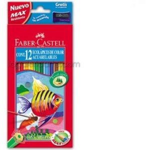 12 EcoLapices de Color Acuarelables FABER-CASTELL