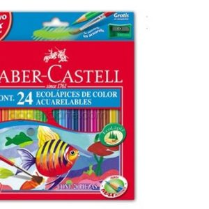 24 EcoLapices de Color Acuarelables FABER-CASTELL