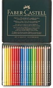 Estuche Metal 24 Lapices de Color Acuarelables FABER-CASTELL
