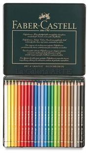 Estuche Metal 24 Lapices de Color Acuarelables FABER-CASTELL