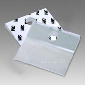 Colgador Adhesivo Carton Pluma 50x50mm 10 unidades