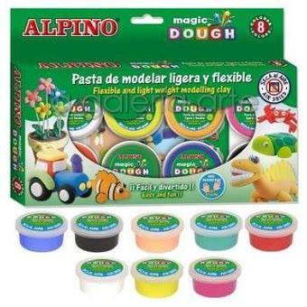 Estuche Pasta de Modelar Magic DOUGH ALPINO 8x14g.