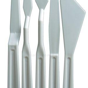 .Set Espatulas de plastico 5 piezas 18cm Talens