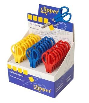 Tijeras Clipper escolar expositor 25 un.