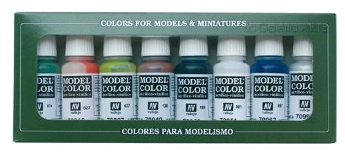 Estuche 8 colores basicos 17mm Model Color Vallejo