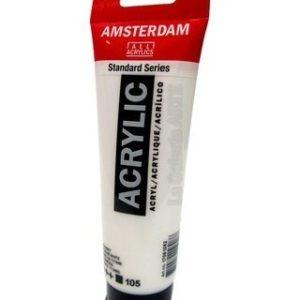 105 Acrilico Amsterdam blanco de titanio 120 ml