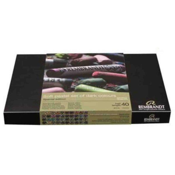 Estuche Pastel REMBRANDT 40 1/2 barras colores oscuros