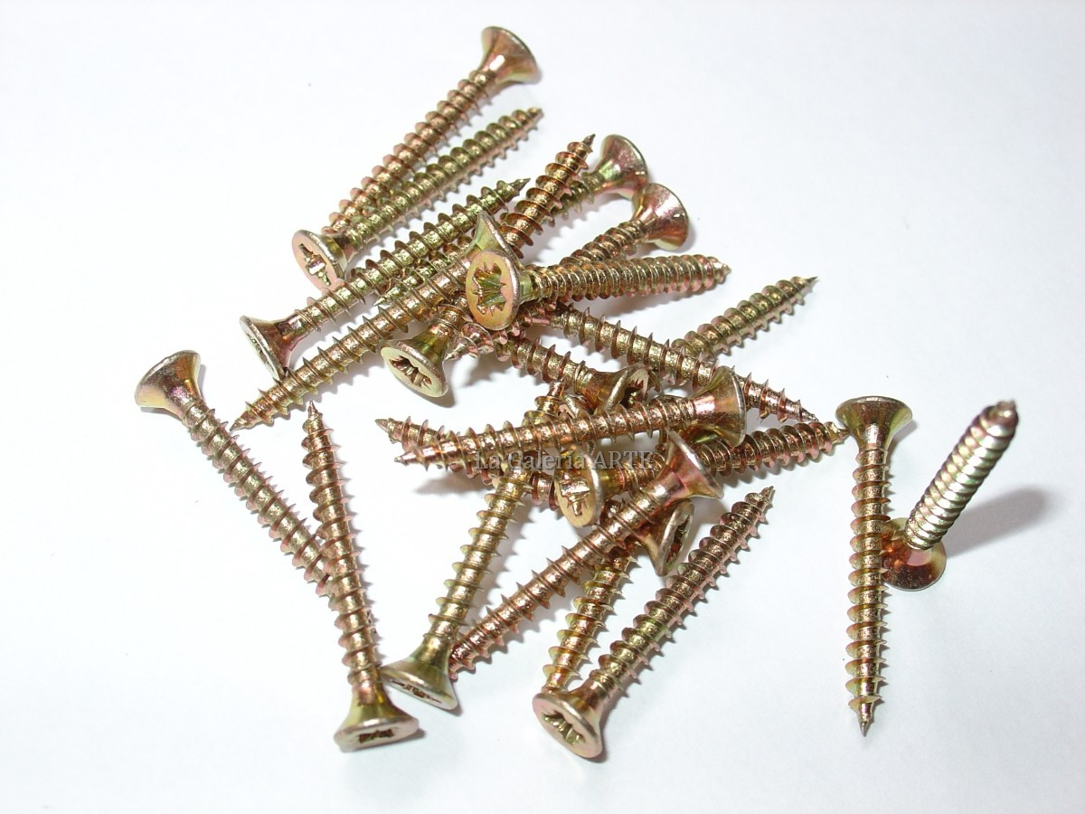 Tornillos Dorados 3x16mm 20 unidades