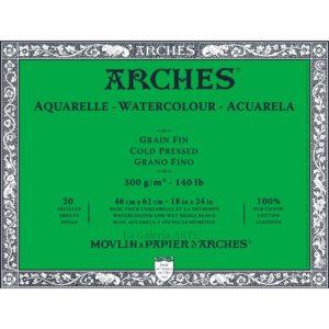 Bloc Acuarela ARCHES 300g. 36x51cm 20 hojas Grano Fino