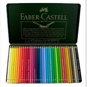 Estuche Metal 36 Lapices de Color Acuarelables FABER-CASTELL