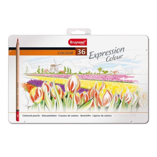Caja Metal 36 Lapices Color Expression Bruynzeel