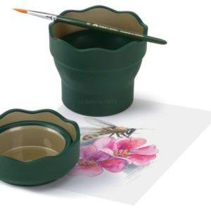 Vaso Plegable para el agua Clic y Go Verde FABER-CASTELL