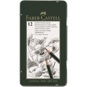 Estuche Metal 12 Lapices Grafito FABER-CASTELL 9000 Art Set 119065