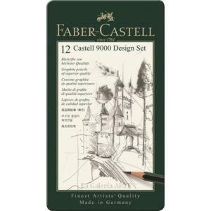Estuche Metal 12 Lapices Grafito FABER-CASTELL 9000 Design Set 119064