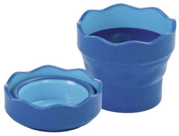 Vaso Plegable para el agua Clic y Go Azul FABER-CASTELL