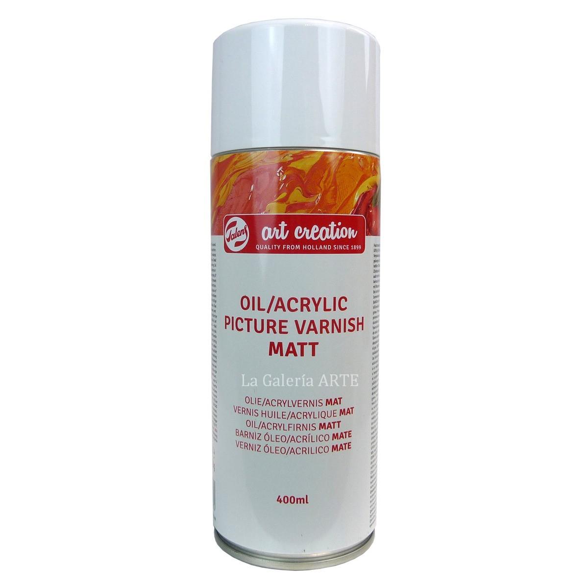 Barniz Oleo y Acrilico Mate Spray ArtCreation 400ml