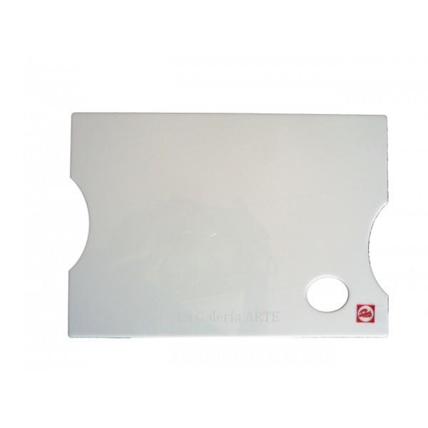 Paleta de Metacrilato Blanca Lisa Rectangular 25x35cm TALENS
