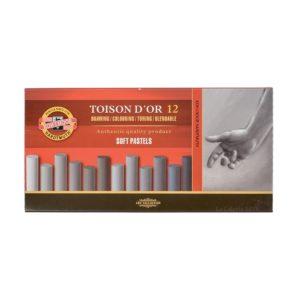 Caja 12 Pasteles Suaves Grises TOISON D´OR 8522G