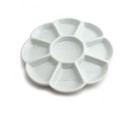 Paleta de Porcelana Flor 19cm Talens