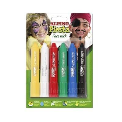 Maquillaje ALPINO Fiesta Face Stick 6 barras