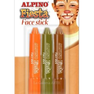 Maquillaje ALPINO Fiesta Face Stick 3 Barras Boys