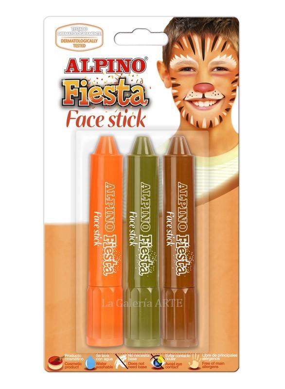 Maquillaje ALPINO Fiesta Face Stick 3 Barras Boys
