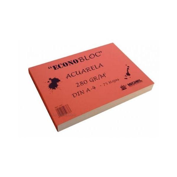 Econobloc 75 hojas Acuarela Michel 30x30cm 280g