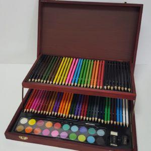 Caja Set Pintor Lapices y Acuarelas 91 piezas Koh-i-Noor