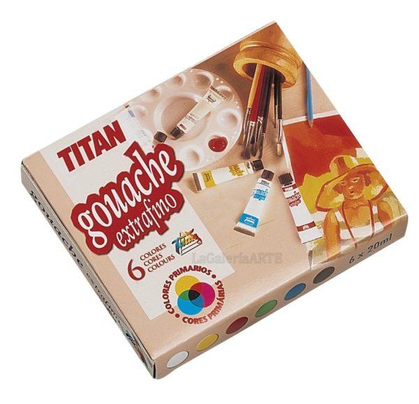 Estuche carton 6 2 Gouache Extrafino Titan 20ml