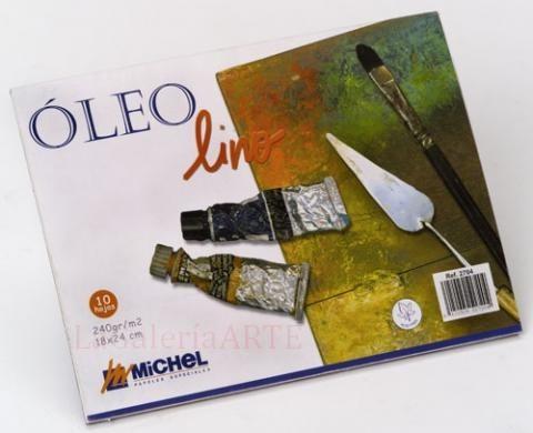 Bloc Papel Oleo lino Michel 24x32cm 240g 10 hojas