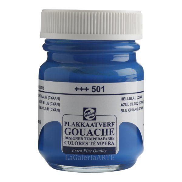 Gouache Talens 50ml 501 Azul Claro Cian