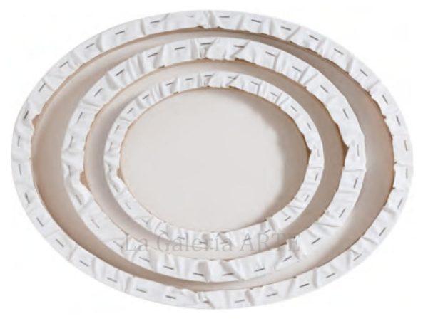 Set 3 Bastidores entelados ovalados lienzo 40x50, 30x40, 24x30