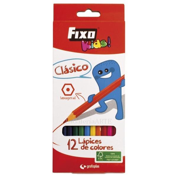 Estuche 12 Lapices de Colores Fixo Kids Clasico
