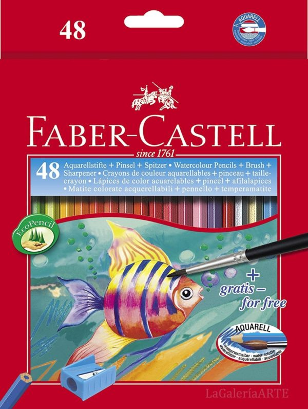 Estuche 48 EcoLapices de Color Acuarelables FABER-CASTELL