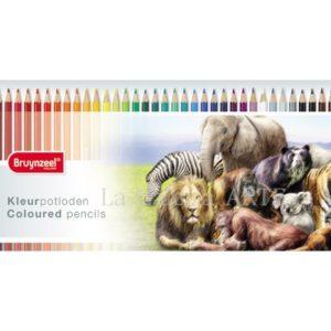 Estuche 45 Colores Bruynzeel Animales Salvajes