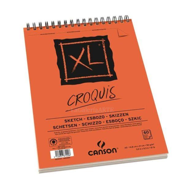 Bloc CANSON XL CROQUIS Dibujo 120 hojas Anillas 90g A4