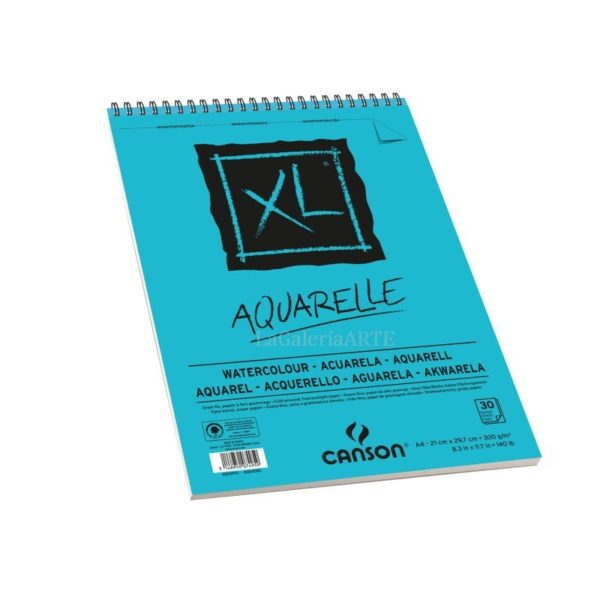Bloc XL CANSON Acuarelle 30 hojas Anillas 300g A4